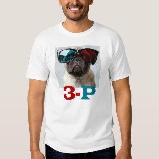 3-P 3D PUG LOVE T SHIRT