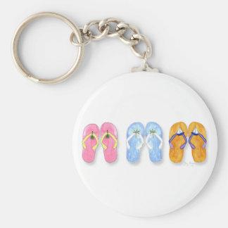 3 Pairs of Flip-Flops Keychain