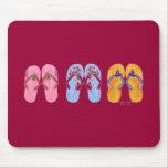 3 Pairs of Flip-Flops Mousepad