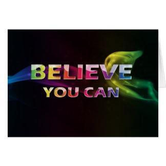 3 palabra Quote~Believe usted tarjeta de