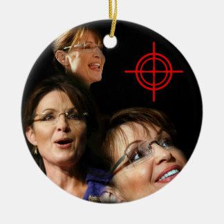 3 Palin Bullseye Ceramic Ornament