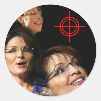 3 Palin Bullseye Classic Round Sticker