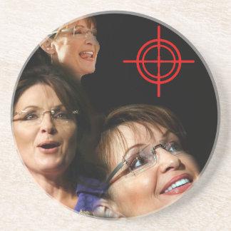 3 Palin Bullseye Drink Coasters