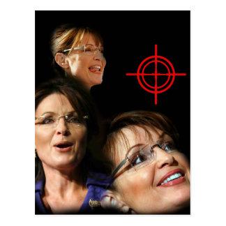 3 Palin Bullseye Postcard