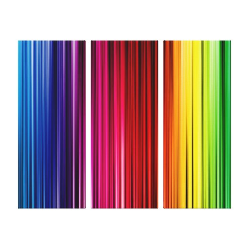 3-PANEL CANVAS ARTWORK - RAINBOW COLORS - GIFTS CANVAS PRINTS