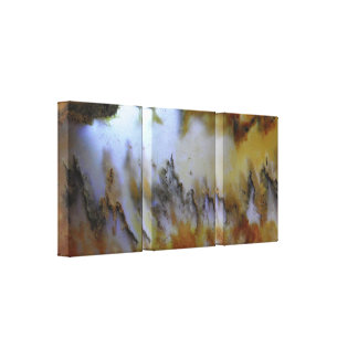 3 Panel Natural Mossy Agate Photo Canvas Print