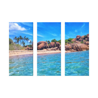 3 Panel Slice Of Paradise Canvas Print