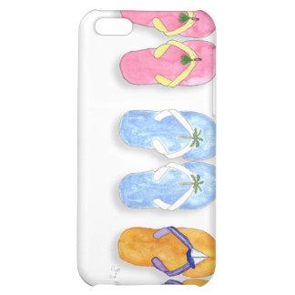 3 pares de caso del iPhone 4 de los flips-flopes