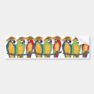 3 Parrots Bumper Sticker