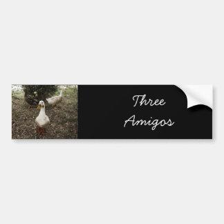 3 patos - pegatina para el parachoques pegatina de parachoque