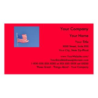 3 patrióticos - plantilla de la tarjeta de visita