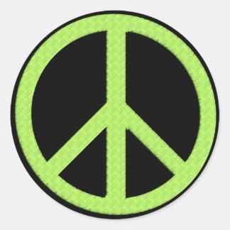 "3"" Peace Green Classic Round Sticker"