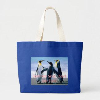 3 Penguins Tote Bag