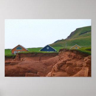 3 pequeñas casas póster