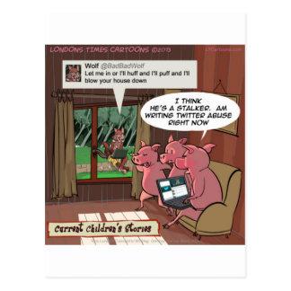 3 pequeños cerdos sociales de la comprensión de tarjeta postal