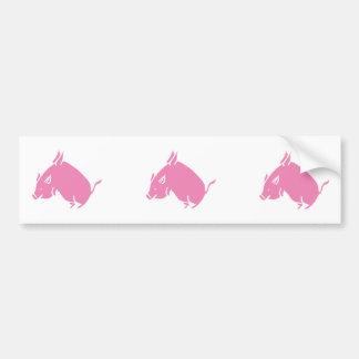 3 pequeños cerdos vuelan al pegatina del bumber pegatina para auto