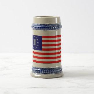3 Percent Flag 18 Oz Beer Stein