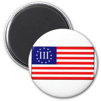 3 Percent Flag 2 Inch Round Magnet