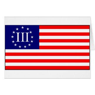 3 Percent Flag Card