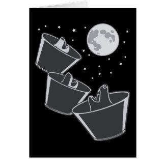 3 Pet Wolves Moon Card