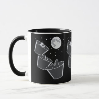 3 Pet Wolves Moon Mug