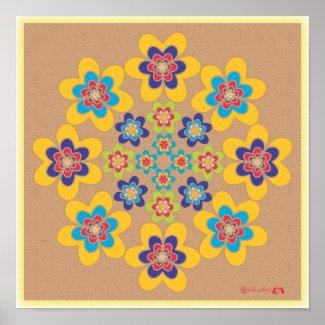 3 Petaled Heart Mandala print