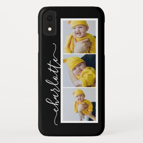 3 Photo And Name Unique Custom Made Personalized Phone Case