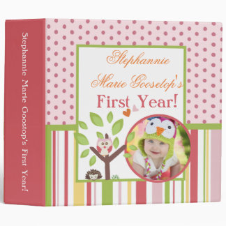 "3"" Photo Binder Scrapbook Love and Nature Girl"