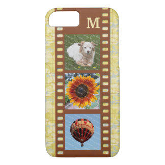 3 Photo Camera Filmstrip Old Map and Monogram iPhone 8/7 Case