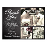 3 Photo Chalkboard Custom Wedding Thank You Card