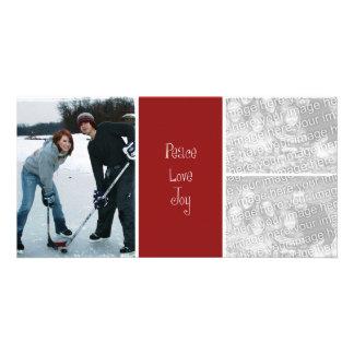 3 Photo Christmas Card Photo Card