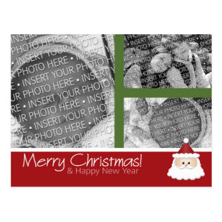 3 photo Collage Christmas Holiday Photo Postcard