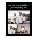3-Photo Collage Custom Postcard