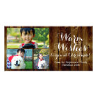 3 Photo Country Christmas Warm Wishes Vintage Photo Cards