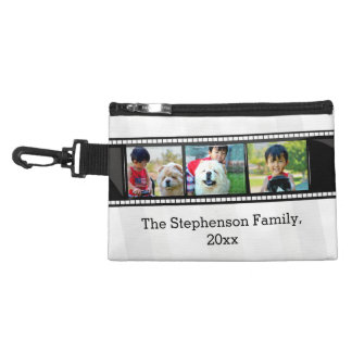 3-Photo film strip personalized photo Accessory Bag