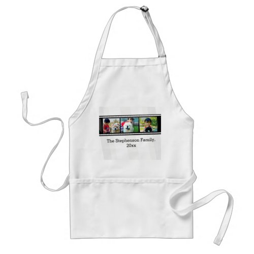 3_Photo film strip personalized photo Adult Apron