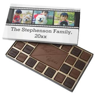 3-Photo film strip personalized photo Assorted Chocolates