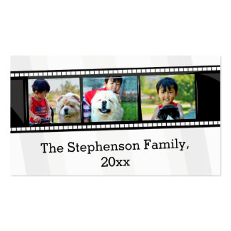 3-Photo film strip personalized photo Business Cards