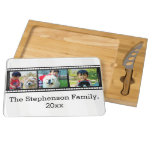 3-Photo film strip personalized photo Cheese Platter