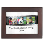 3-Photo film strip personalized photo Keepsake Box