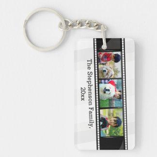 3-Photo film strip personalized photo Keychain