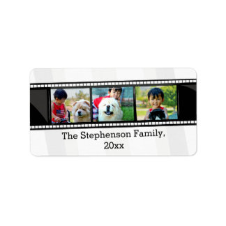 3-Photo film strip personalized photo Label