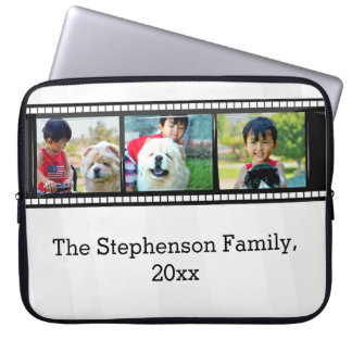 3-Photo film strip personalized photo Computer Sleeve