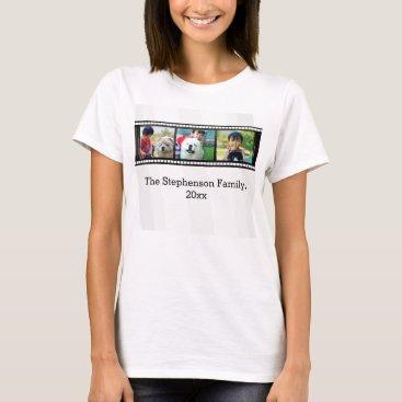 3-Photo film strip personalized photo T-Shirt