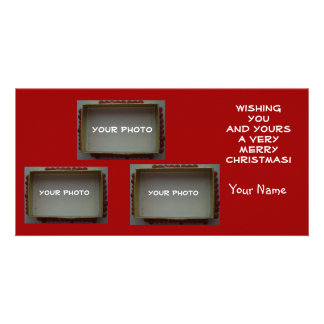 3 Photo slot Your Picture Christmas Cards