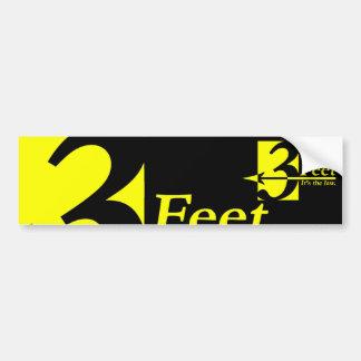 3 pies - estilo de diseñador etiqueta de parachoque