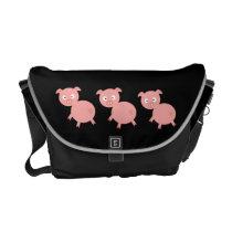 3 Pigs Rickshaw Messenger Bag
