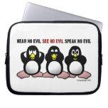 3 pingüinos sabios funda portátil