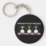 3 pingüinos sabios llavero