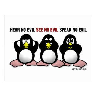 3 pingüinos sabios postal